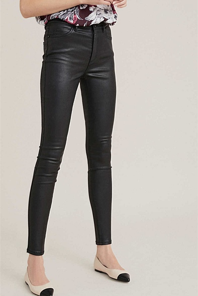 witchery coated jeans